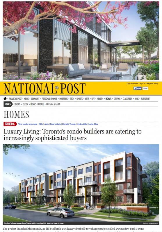 Luxury Living: Toronto's condo builders